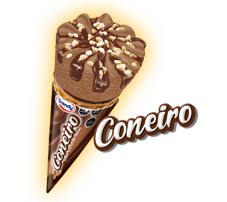 Coneiro chocolate mani